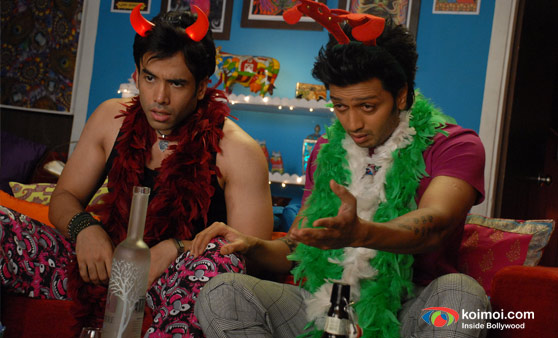 Tushaar Kapoor, Ritesh Deshmukh In Kyaa Super Kool Hai Hum Movie Stills