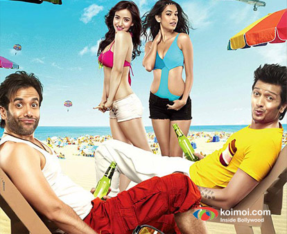 Tusshar Kapoor, Ritesh Deshmukh, Neha Sharma, Sarah Jane Dias In Kyaa Super Kool Hain Hum Movie