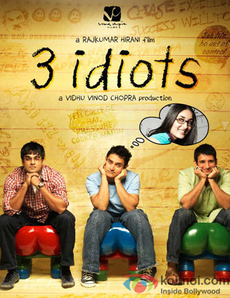 Aamir Khan, R.Madhavan, Sharman Joshi and Kareena Kapoor (3 Idiots Movie Poster)