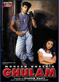 Aamir Khan and Rani Mukerji Ghulam Movie Poster