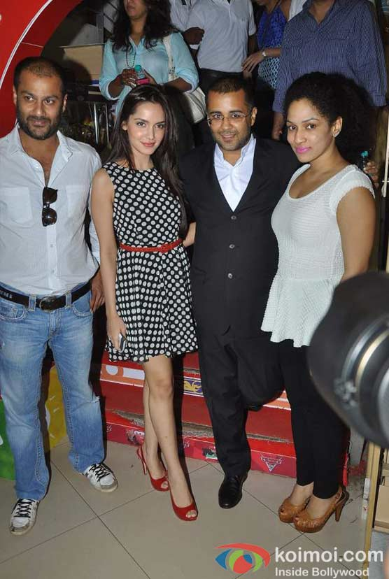 Abhishek Kapoor And Shazahn Padamsee At Chetan Bhagat's 'What Young India Wants' Book Launch