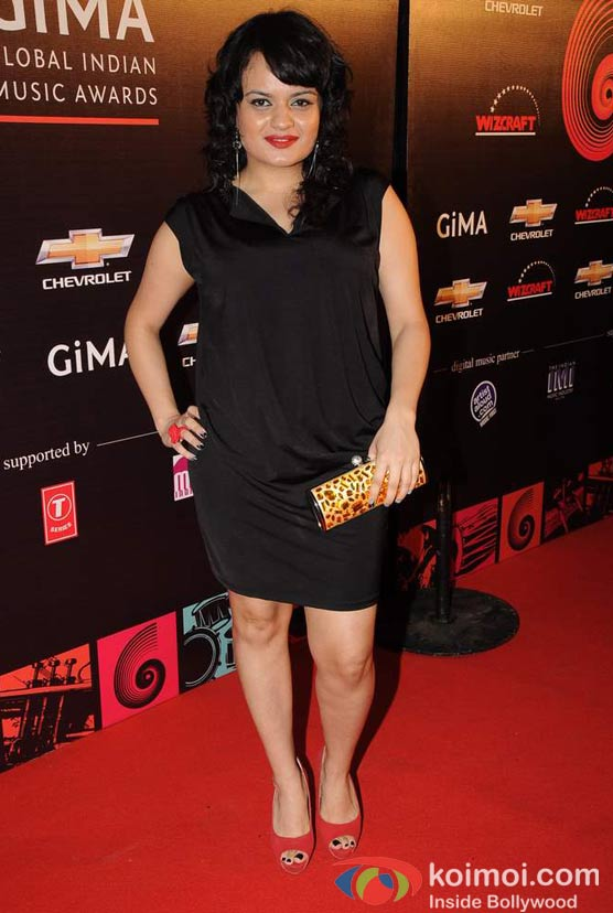 Aditi Singh Sharma At Global Indian Music (GIMA) Awards 2012 Red Carpet