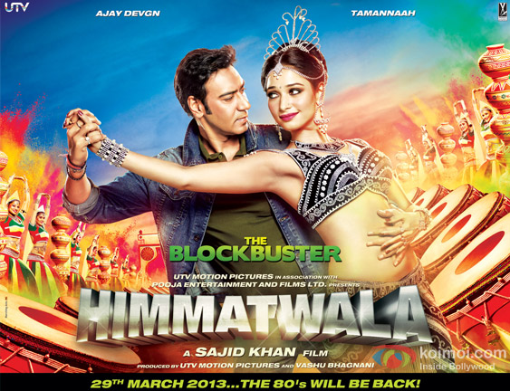 Ajay Devgan and Tamannaah in Himmatwala Movie Poster