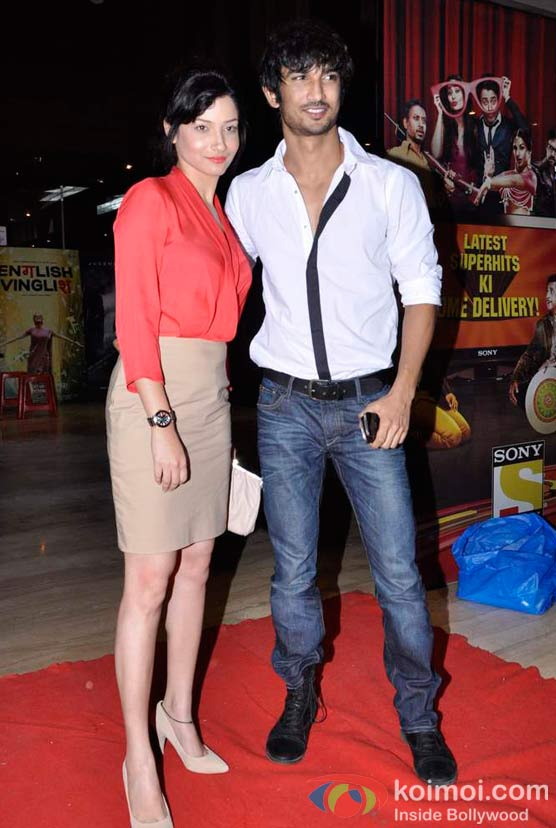 Ankita Lokhande, Sushant Singh Rajput At Shirin Farhad Ki Toh Nikal Padi Movie Special Screening At Cinemax