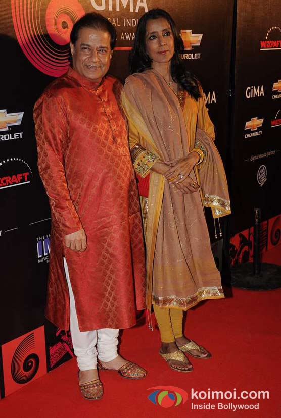 Anup Jalota At Global Indian Music (GIMA) Awards 2012 Red Carpet