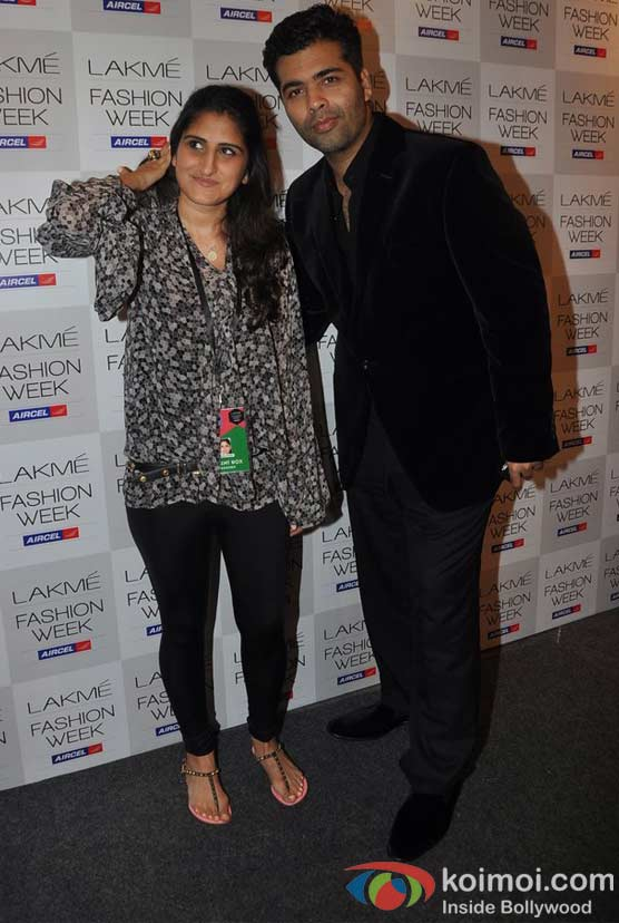 Anushka Khanna, Karan Johar At Lakme Fashion Week 2012