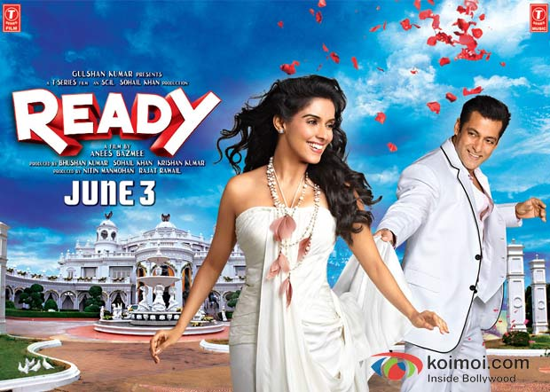 Asin Thottumkal And Salman Khan In Ready Movie Wallpaper