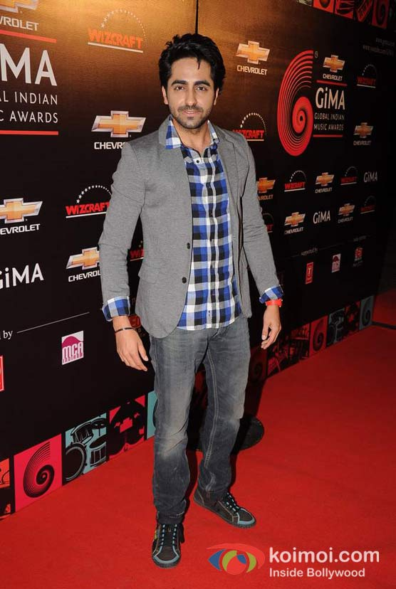 Ayushman Khurana At Global Indian Music (GIMA) Awards 2012 Red Carpet