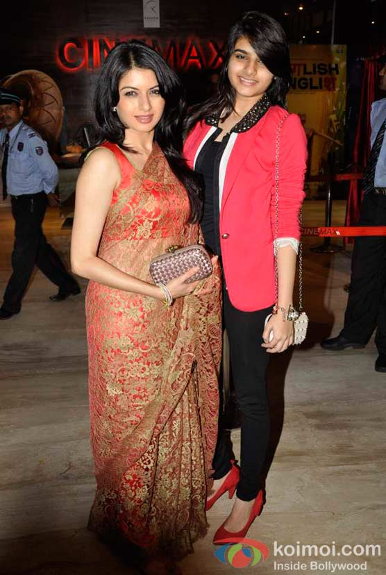 Bhagyashree At Shirin Farhad Ki Toh Nikal Padi Movie Special Screening At Cinemax