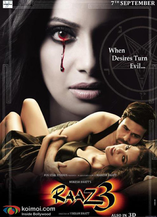 Bipasha Basu and Emraan Hashmi In Raaz 3 Movie Poster