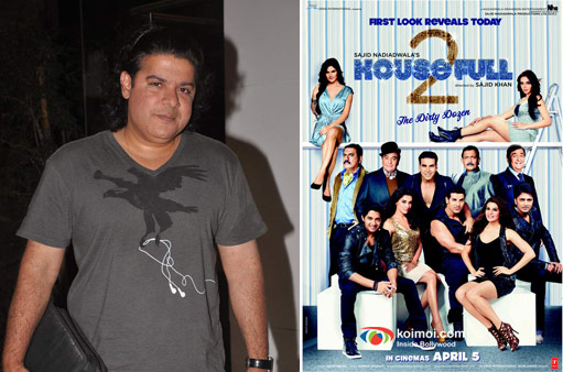 Director Sajid Khan and Housefull 2 Movie Poster