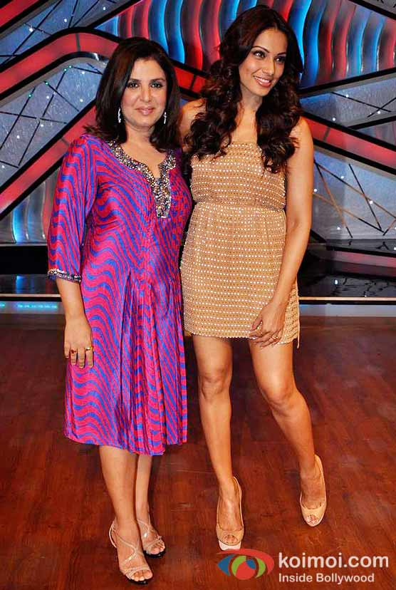Farah Khan and Bipasha Basu On The Sets Of DID Litle Masters
