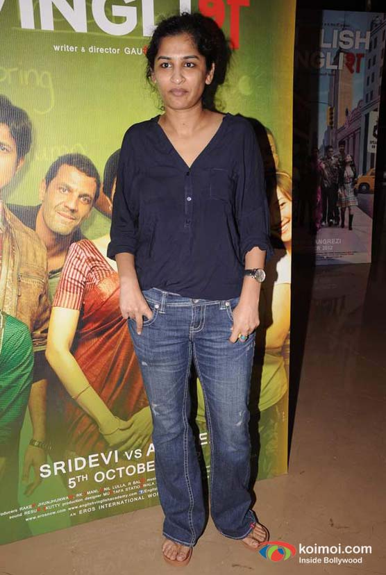 Gauri Shinde At English  Vinglish Movie Trailer Launch