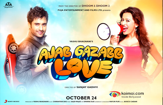 Jackky Bhagnani and Nidhi Subbaiah in Ajab Gazabb Love Movie First Look Poster