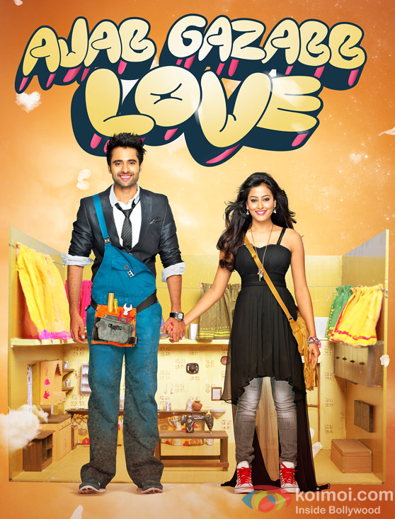 Jackky Bhagnani And Nidhi Subbaiah In Ajab Gazabb Love Movie Poster 2
