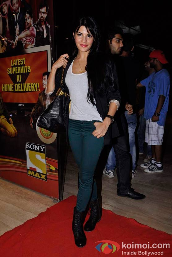 Jacqueline Fernandez At Shirin Farhad Ki Toh Nikal Padi Movie Special Screening At Cinemax