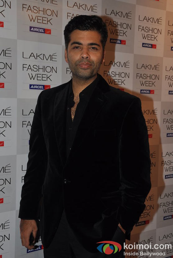 Karan Johar At Lakme Fashion Week 2012