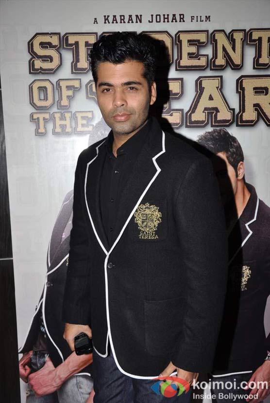 Karan Johar At Student Of The Year Movie Trailer Launch