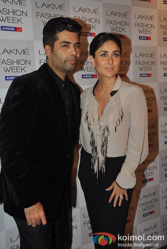 Karan Johar Kareena Kapoor At Lakme Fashion Week 2012