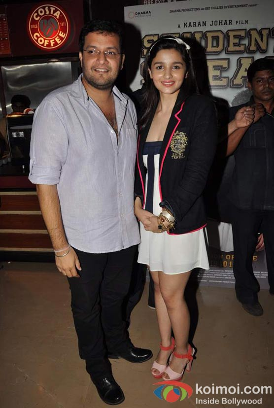Karan Malhotra, Alia Bhatt At Student Of The Year Movie Trailer Launch