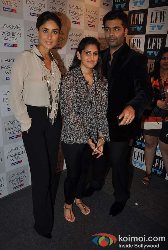 Kareena Kapoor, Anushka Khanna, Karan Johar At Lakme Fashion Week 2012