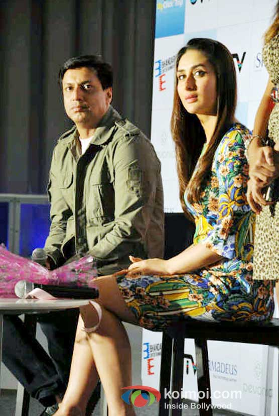 Madhur Bhandarkar And Kareena Kapoor At Heroine Movie Press Conference In Ice Skate Mall Gurgaon