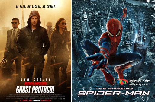 Mission Impossible Ghost-Protocol, The Amazing Spider-Man Movie Poster