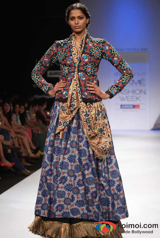 Model At Designer Debarun's Omnipresent Show At Lakme Fashion Week 2012