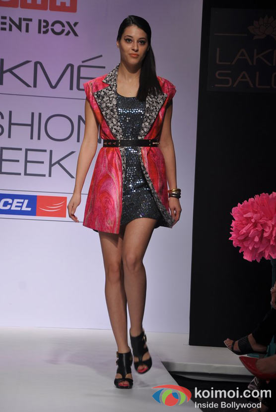 Model At Lakme Fashion Week 2012
