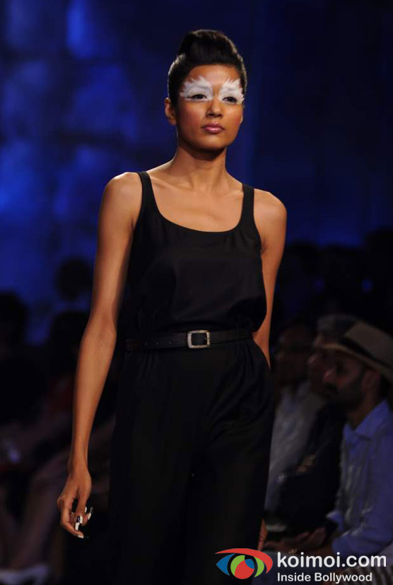 Model Walks The Ramp At Lakme Fashion Week 2012 Grand Finale