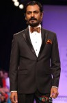 Nawazuddin Siddiqui walks the ramp at LFW Winter Festive 2013