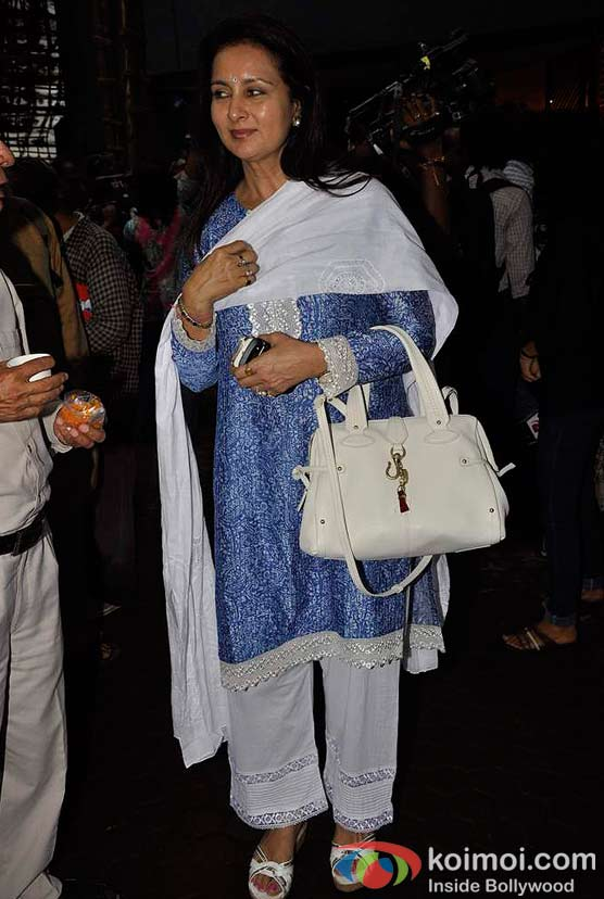 Poonam Dhillon At A. K. Hangal (Avtar Kishan Hangal) Prayer Meet