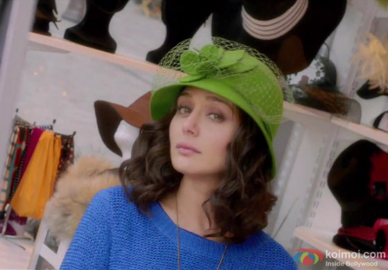 Preity Zinta donning a cute hat in Ishkq In Paris Movie Stills