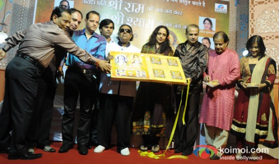 Ramesh Jain, Altaf Raja, Champak Jain, Ravindra Jain, Hema Malini, Suresh Wadkar, Anup Jalota and Madhushree At Unveils Album On The Occasion of Gokulashtami