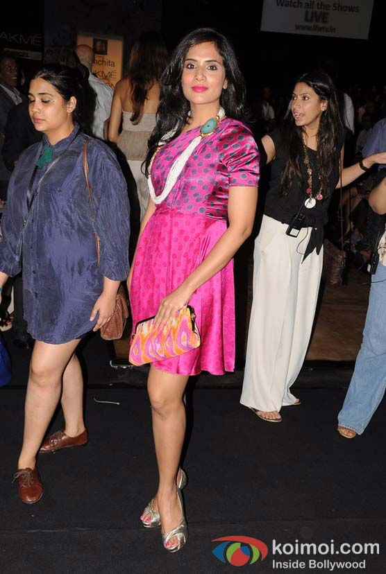 Richa Chadda At Lakme Fashion Week 2012
