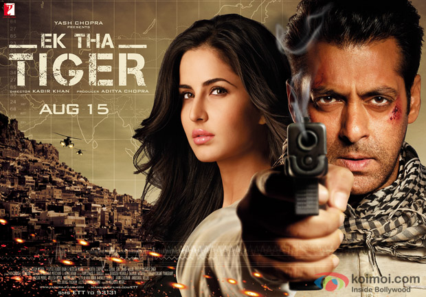 Salman Khan and Katrina Kaif (Ek Tha Tiger Movie Poster)