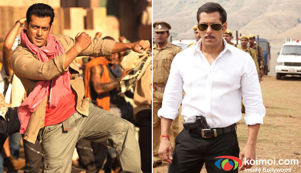 Salman Khan in Ek Tha Tiger and Dabangg Movie Stills