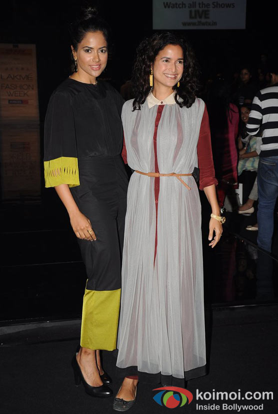 Sameera Reddy, Sushma Reddy At Lakme Fashion Week 2012