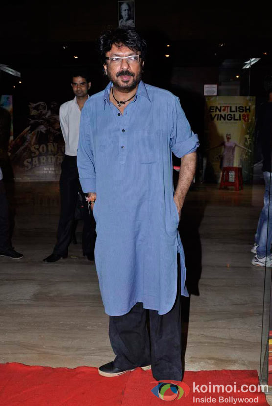 Sanjay Leela Bhansali At Shirin Farhad Ki Toh Nikal Padi Movie Special Screening At Cinemax