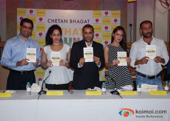Shazahn Padamsee And Abhishek Kapoor At Chetan Bhagat's 'What Young India Wants' Book Launch