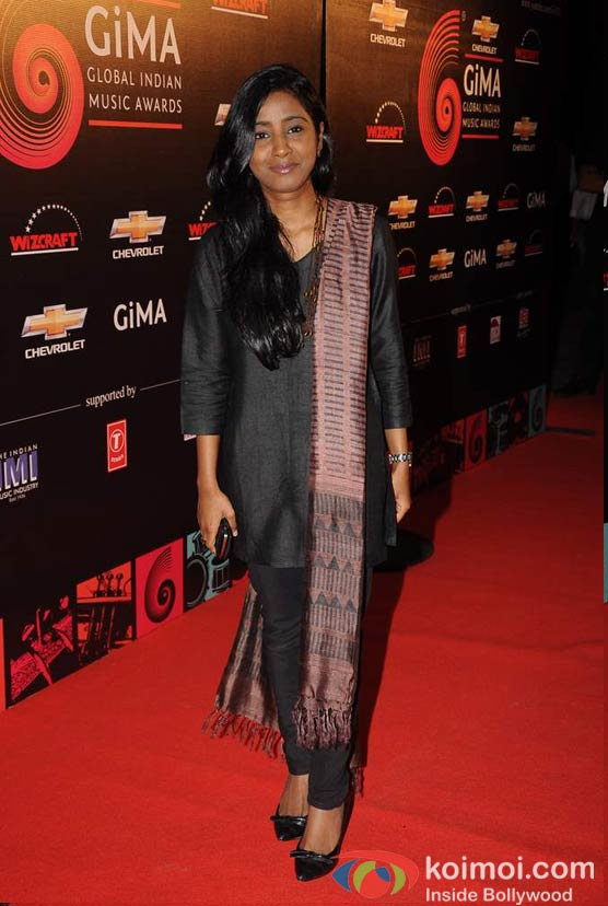 Shilpa Rao At Global Indian Music (GIMA) Awards 2012 Red Carpet