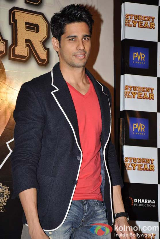 Siddharth Malhotra At Student Of The Year Movie Trailer Launch
