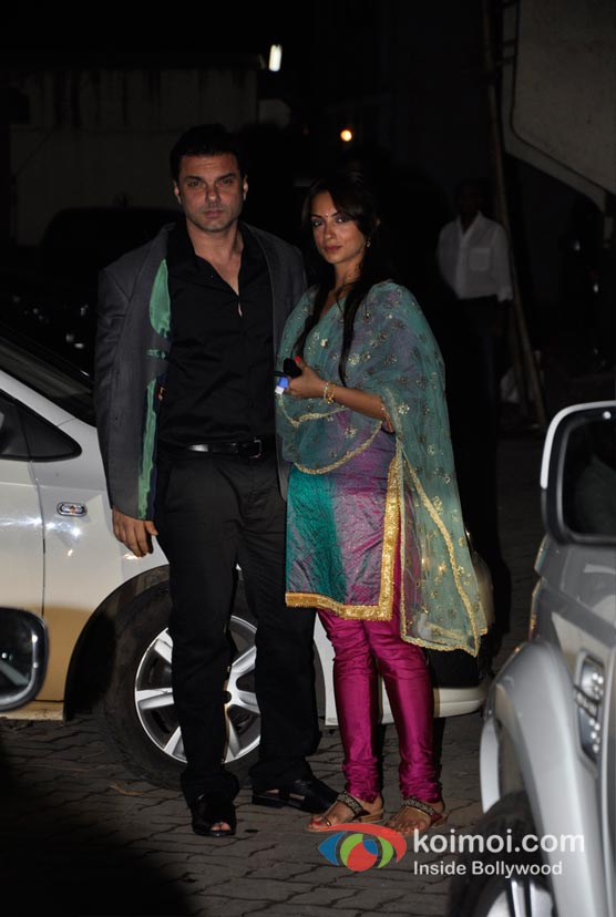 Sohail Khan, Seema Khan At Salman Khan's Eid Party