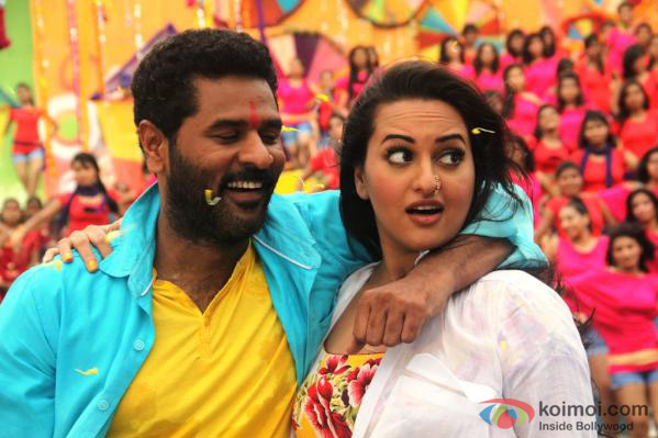 Sonakshi Sinha and Prabhu Deva dance in Go Govinda Song in OMG Oh My God! Movie Stills
