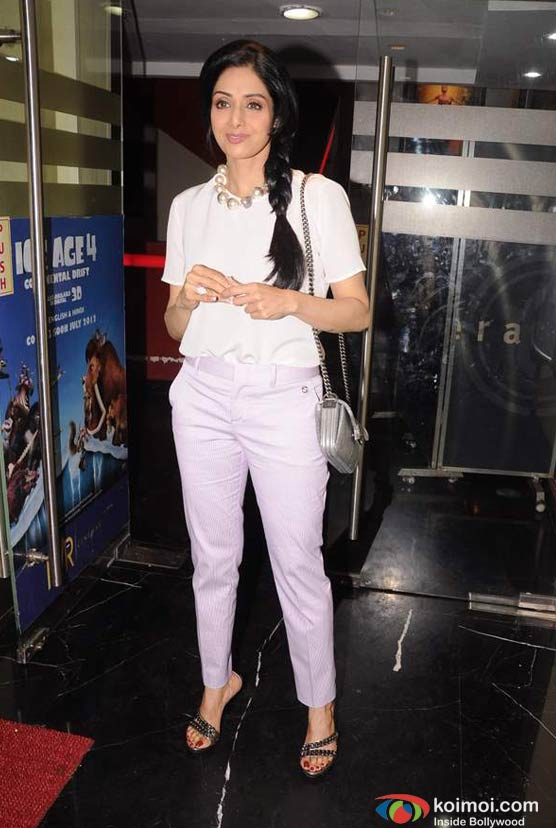 Sridevi At English Vinglish Movie Trailer Launch