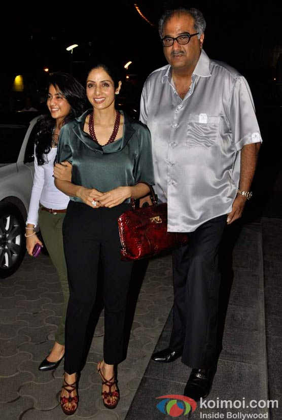 Sridevi, Boney Kapoor  At Shirin Farhad Ki Toh Nikal Padi Movie Special Screening At Cinemax