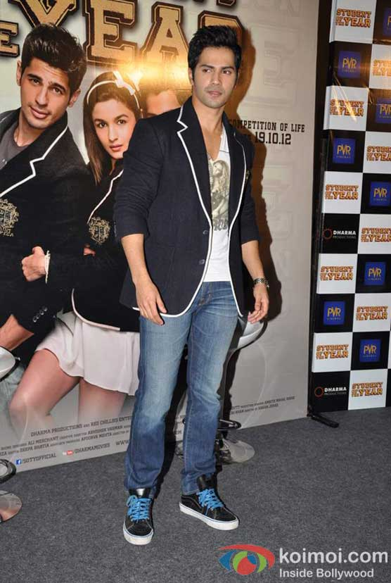 Varun Dhawan At Student Of The Year Movie Trailer Launch