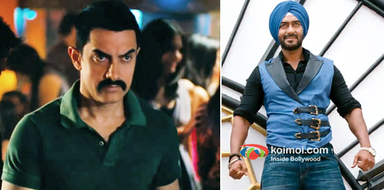 Aamir Khan In Talaash Movie And Ajay Devgan In Son Of Sardaar Movie