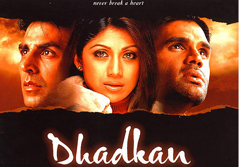 Akshay Kumar, Shilpa Shetty and Sunil Shetty In Dhadkan Movie Poster