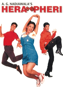 Akshay Kumar, Tabu and Sunil Shetty In Hera Pheri Movie Poster